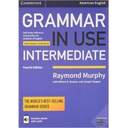 grammar in use intermediate with answers fourth edition همراه DVD